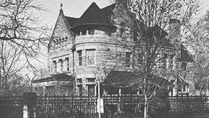 Hyde Park Houses: black and white photo of a Hyde Park house