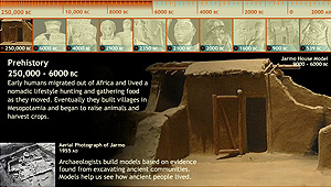 Mesopotamia Timeline: screen image of the interactive