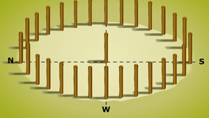 Woodhenge: screen image of the interactive