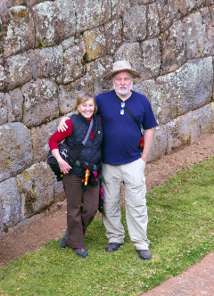 Dieter Hartmann in Peru: Deiter Hartmann on one of his many travels, with his wife in Peru.