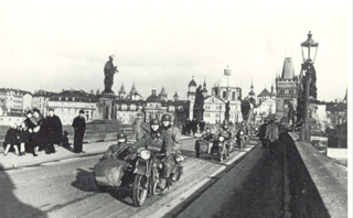 Prague, 1939: German soldiers in Prague in 1939.