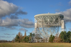 The Lovell Telescope: The 76-m Lovell Radio Telescope at Jodrell Bank Centre for Astrophysics at the University of Manchester.