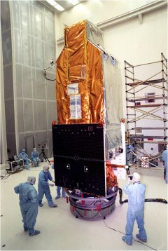 The Far Ultraviolet Spectroscopic Explorer (FUSE): The FUSE satellite during final preparations for launch.