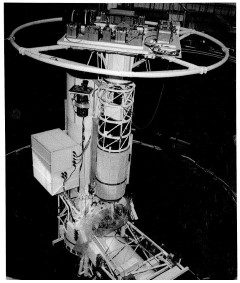 Stratoscope II in a Vacuum Chamber: Stratoscope II underwent extensive environmental testing in a vacuum chamber at Valley Forge, Pennsylvania after flight failures in 1965, 1966 and 1967 due to mechanical problems.