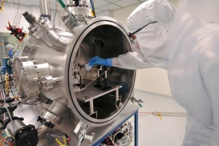 Vacuum Test Chamber: LASP engineers conduct extensive in-house testing on instruments to determine that they are ready for deployment into the sometimes inhospitable conditions of space.