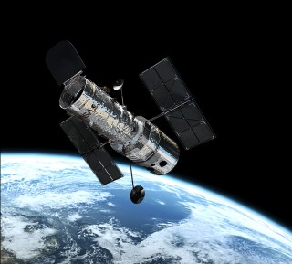 Hubble Space Telescope in Orbit: Named after astronomer Edwin Hubble, one of the Hubble Space Telescope's key projects was to determine the rate of expansion of the Universe, called the Hubble Constant.